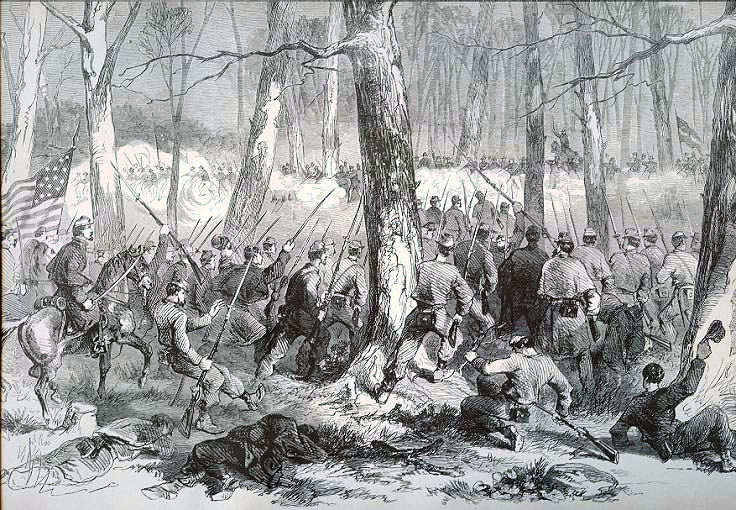 8th MO Advancing at Ft. Donelson