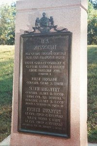 8th Missouri Marker at Vicksburg