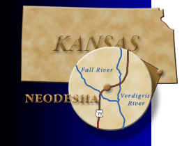 Kansas Map Showing Neodosha