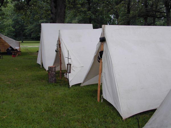 Line of A-Tents